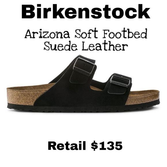 3b354ed2ca Birkenstock Arizona Soft Footbed Black Sandals 37